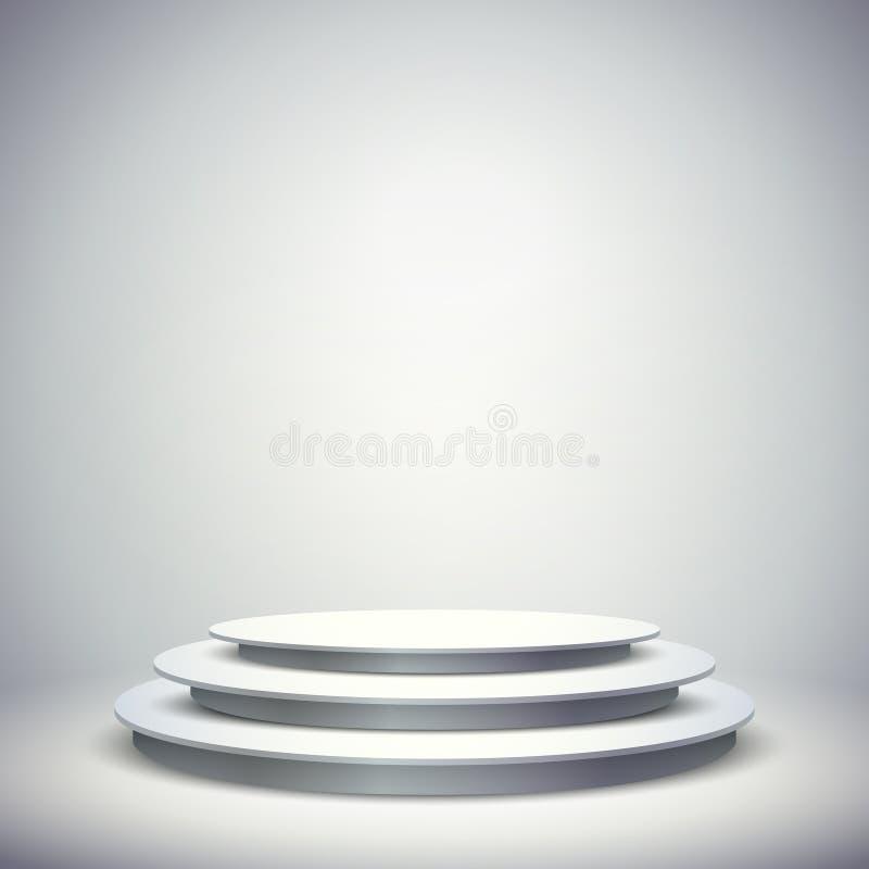план шаблона пробела вектора 3d белого пустого этапа иллюстрация штока