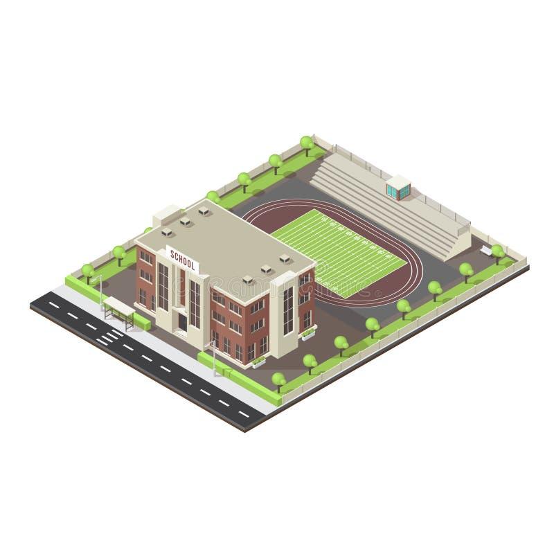 План школы равновеликий иллюстрация штока