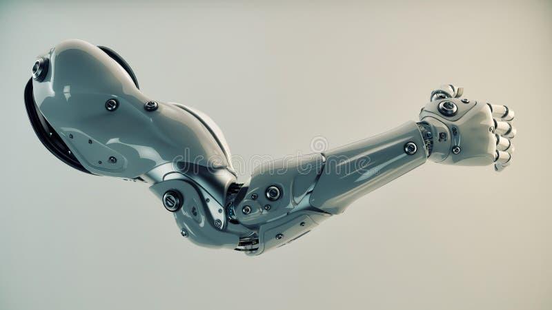 Пластичная brawny рука кибер бесплатная иллюстрация