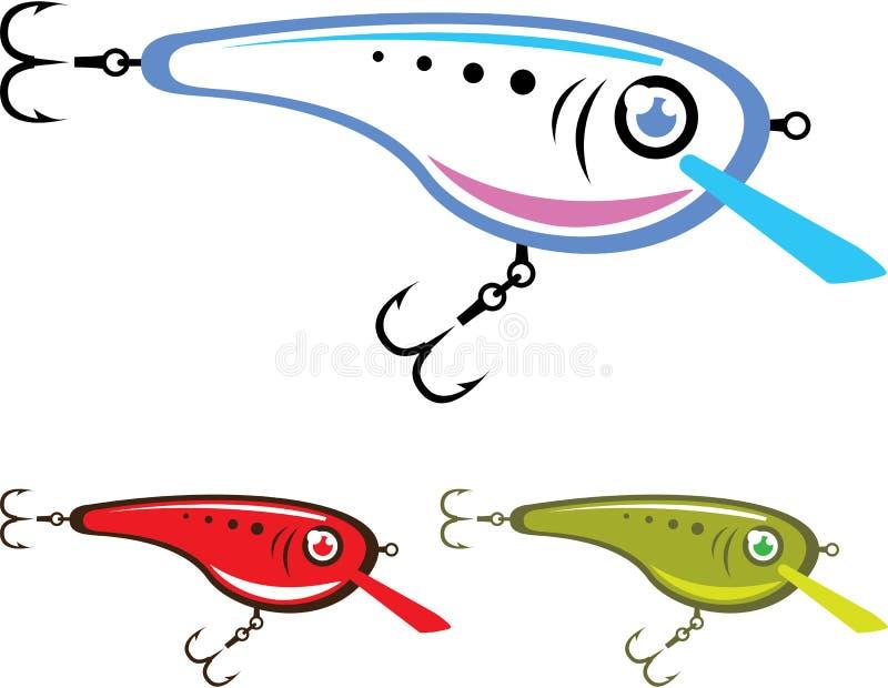 Пластичное искусство вектора прикормом рыбной ловли иллюстрация штока