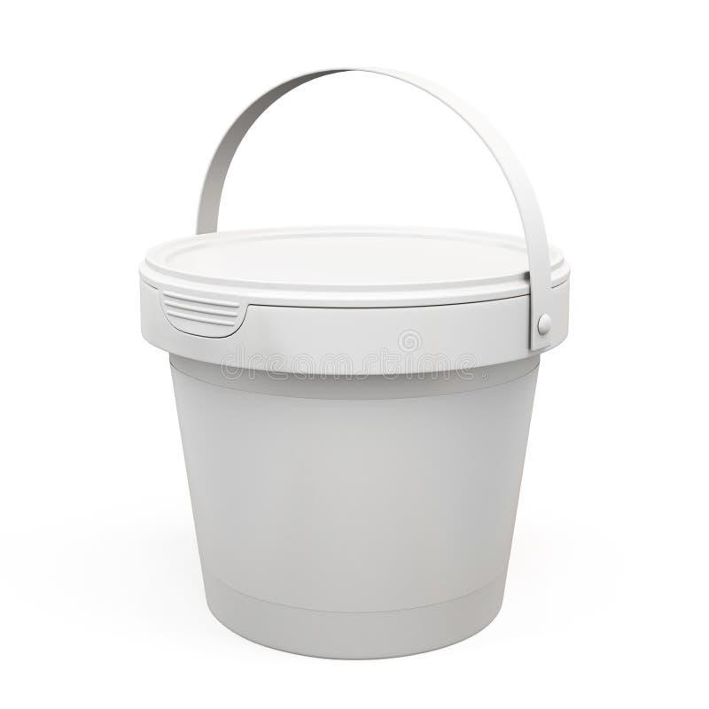 Пластичные продукты ведра для вашего дизайна 3d иллюстрация вектора