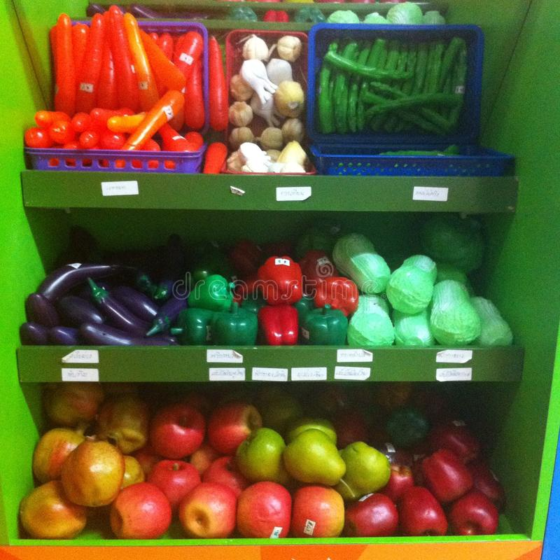 пластичные плодоовощи забавляются  «  «ðŸ 🠫 стоковая фотография