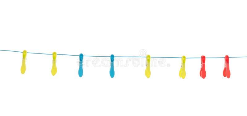 Пластичные шпеньки одежд стоковое изображение rf