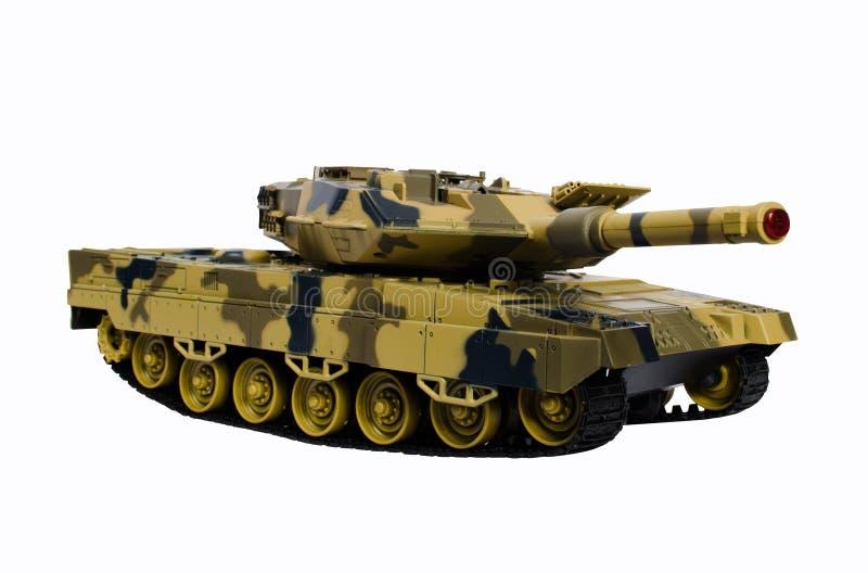 Пластичный танк игрушки изолированный на белой предпосылке стоковые фото
