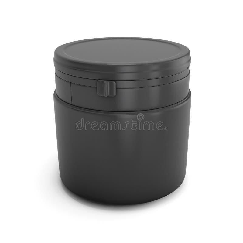 Пластмасса шаблона черная может для продуктов бесплатная иллюстрация