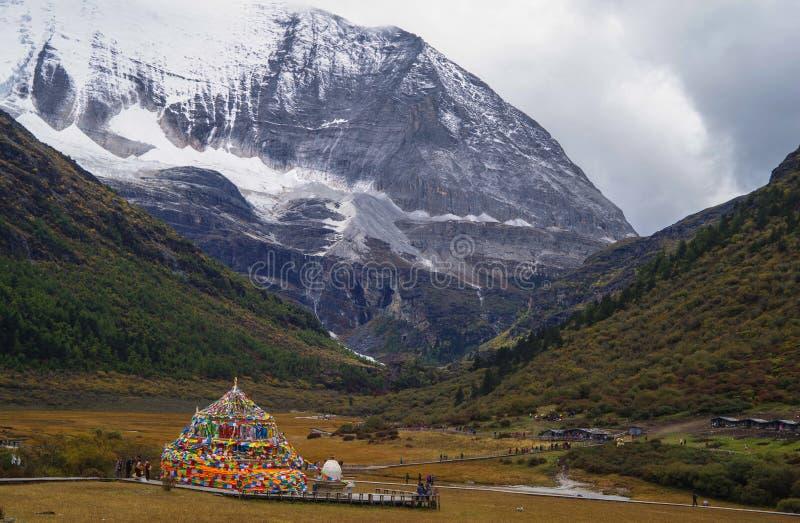 Плато Тибета стоковая фотография