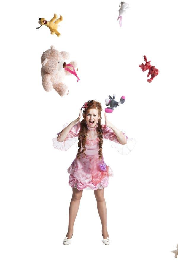 Платье куколки женщины стоковые фото