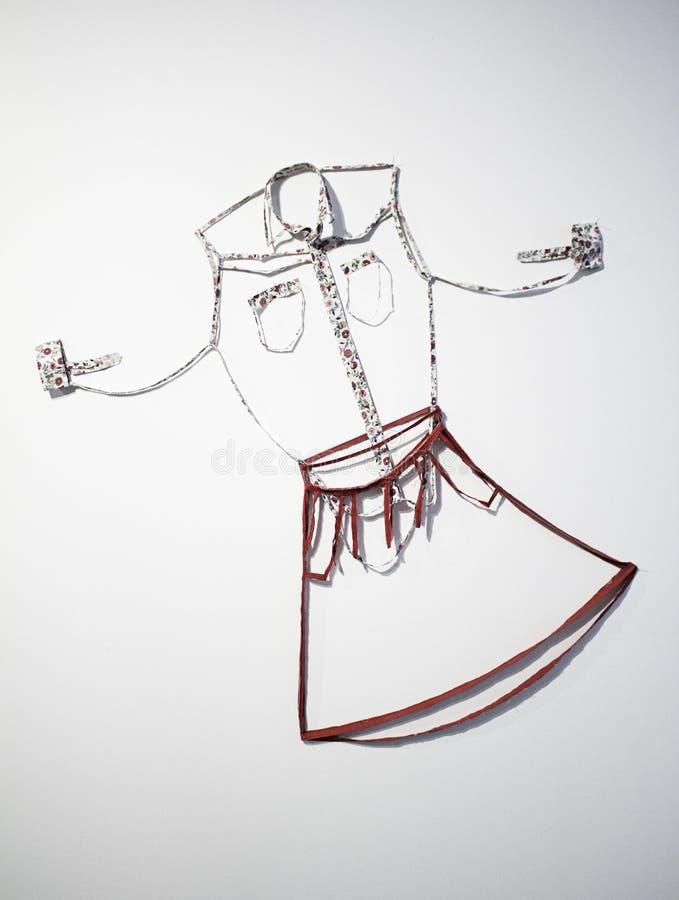 Платье моды ковбоя стоковое фото