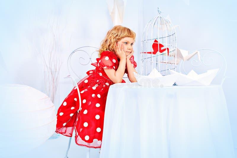 платье Полька-точки стоковая фотография