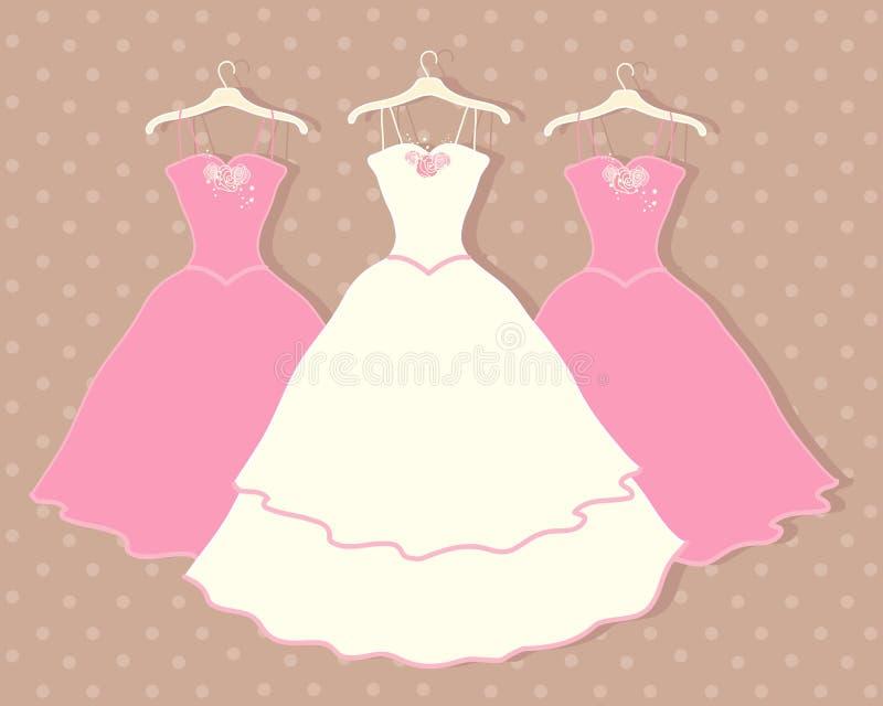 Платье свадьбы иллюстрация вектора