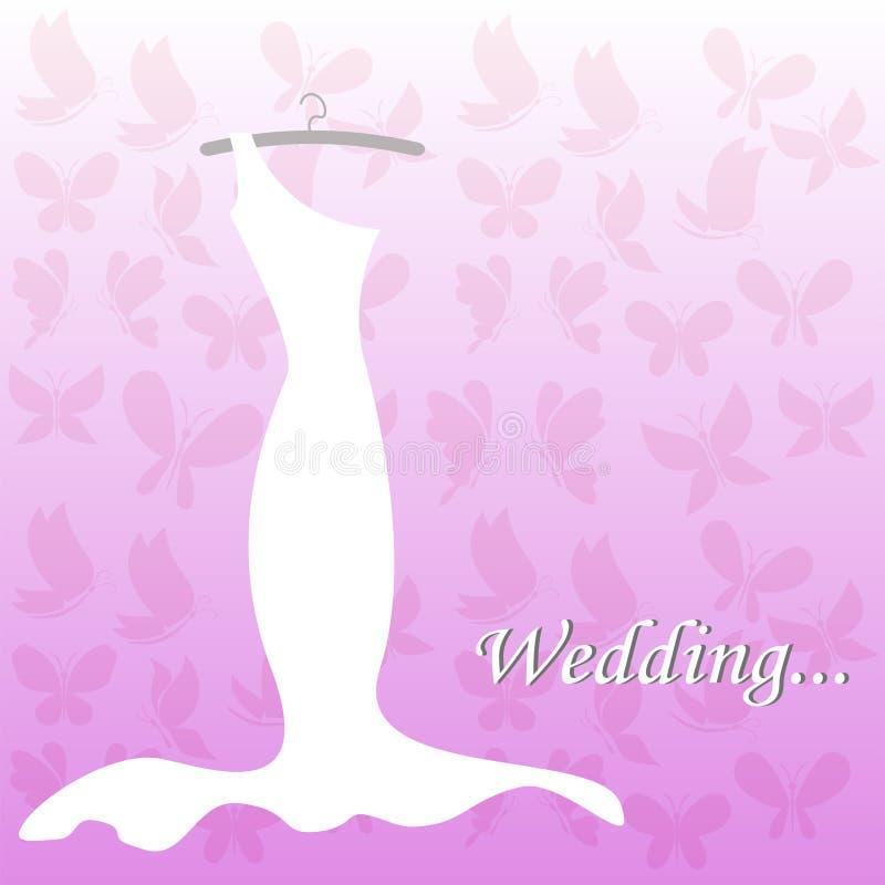 Платье свадьбы, bridal ливень иллюстрация штока