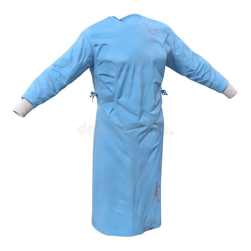 Платье хирурга изолированное на белой иллюстрации 3D стоковое фото rf