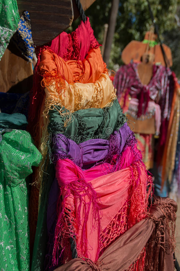 Платья моды фестиваля ренессанса Аризоны стоковые фотографии rf