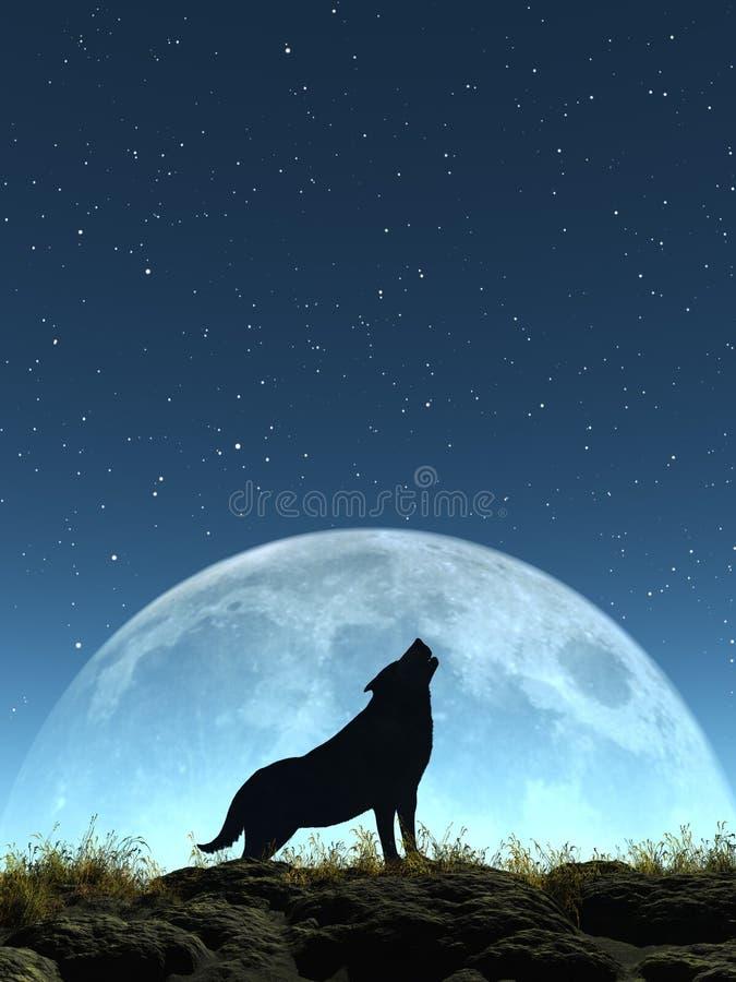 Плача волк бесплатная иллюстрация