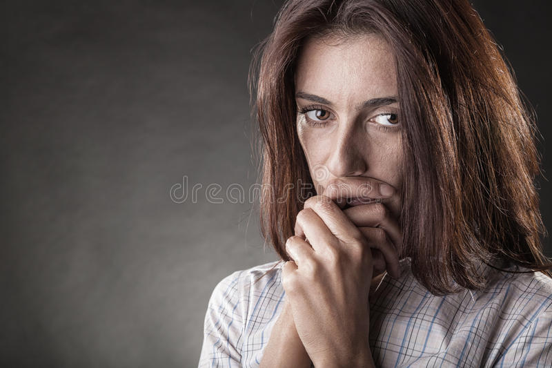 Плача женщина стоковое фото