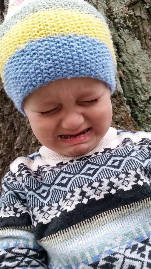 плача малыш стоковое фото