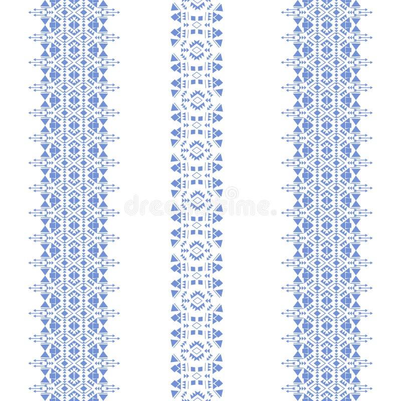 Племенная безшовная синь картины иллюстрация вектора
