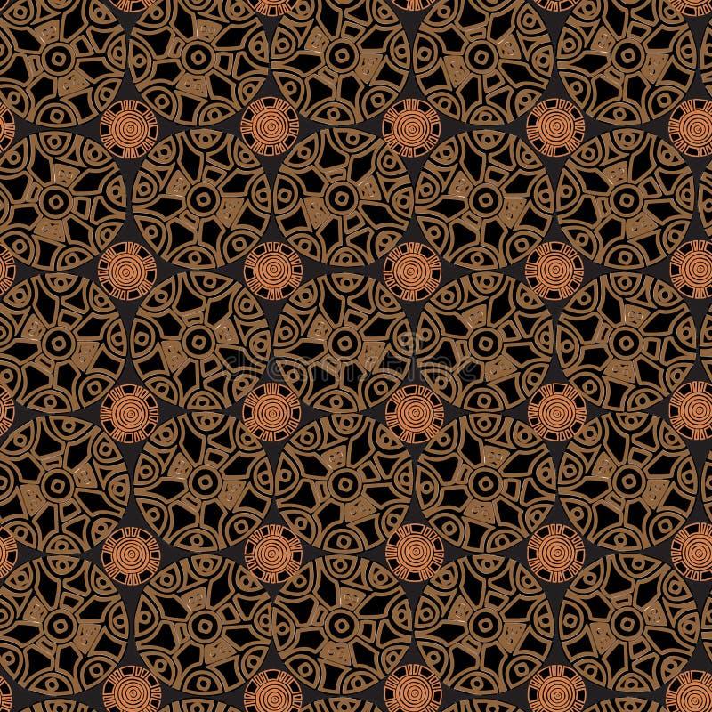 Племенная картина в коричневых тонах стоковое фото rf