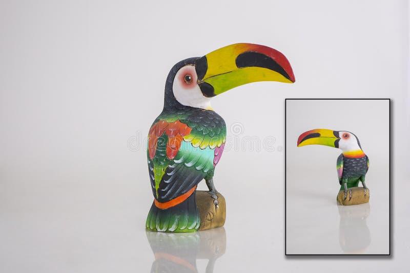 Племенная статуя Toucan стоковые фотографии rf
