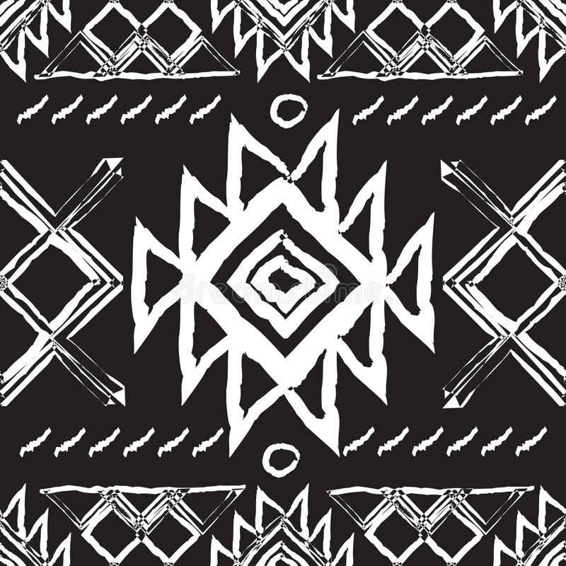 Племенная этническая безшовная картина Национальный орнамент вектора людей севера бесплатная иллюстрация
