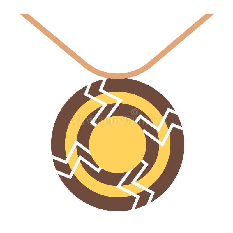 Племенной вектор ожерелья иллюстрация штока