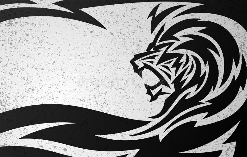 Племенной дизайн льва бесплатная иллюстрация