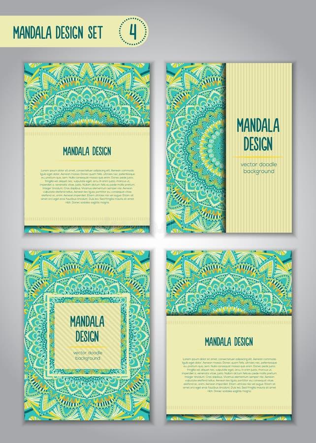 Племенной комплект дизайна мандалы декоративный сбор винограда элементов стоковые фото