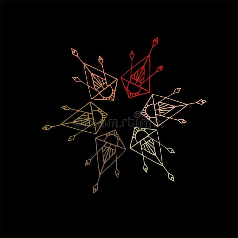 Племенной логотип стоковые фото
