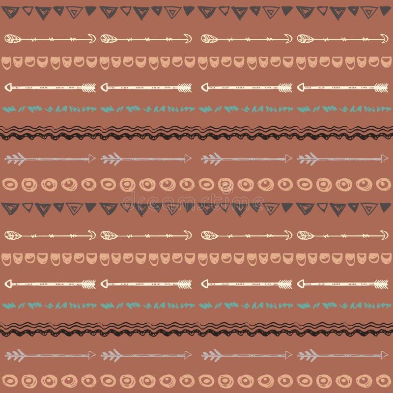 Племенной предпосылка нарисованная рукой, этики doodle картина иллюстрация штока