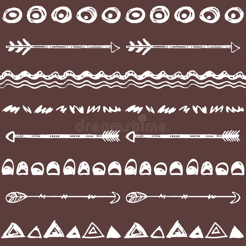 Племенной предпосылка нарисованная рукой, этики doodle картина бесплатная иллюстрация