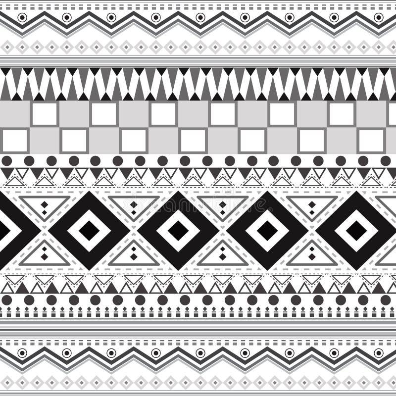 Племенные этнические безшовные картины иллюстрация штока