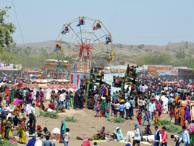 Племя Bhil справедливое стоковое изображение rf
