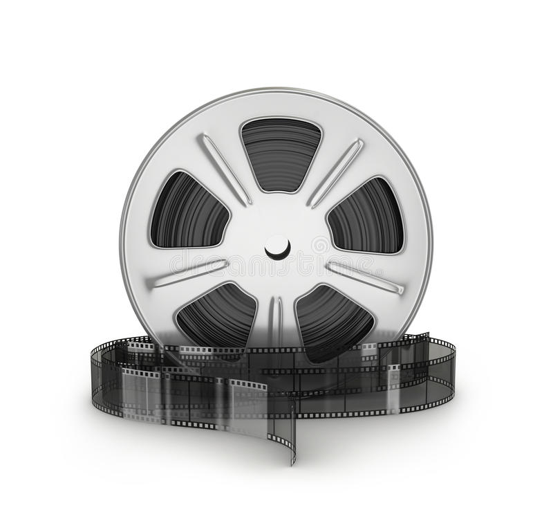 пленка снимает катышку кино иллюстрация вектора