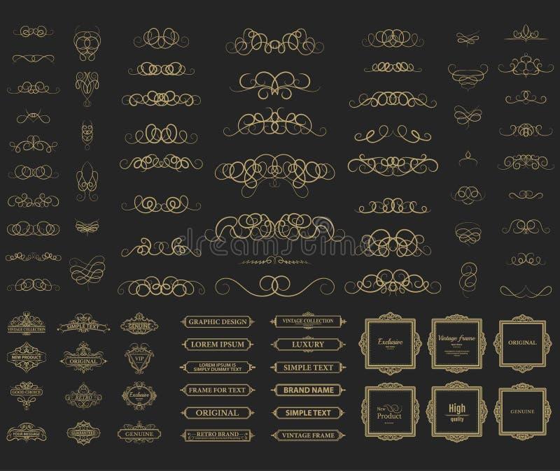Плетеные линии и старые элементы оформления в векторе бесплатная иллюстрация