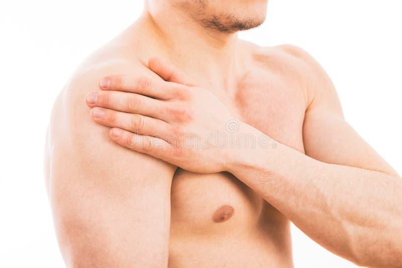 плечо боли человека стоковое изображение