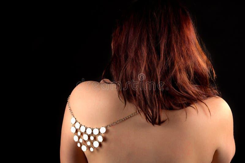 Плечо задней части женщины Redhead стоковое фото rf