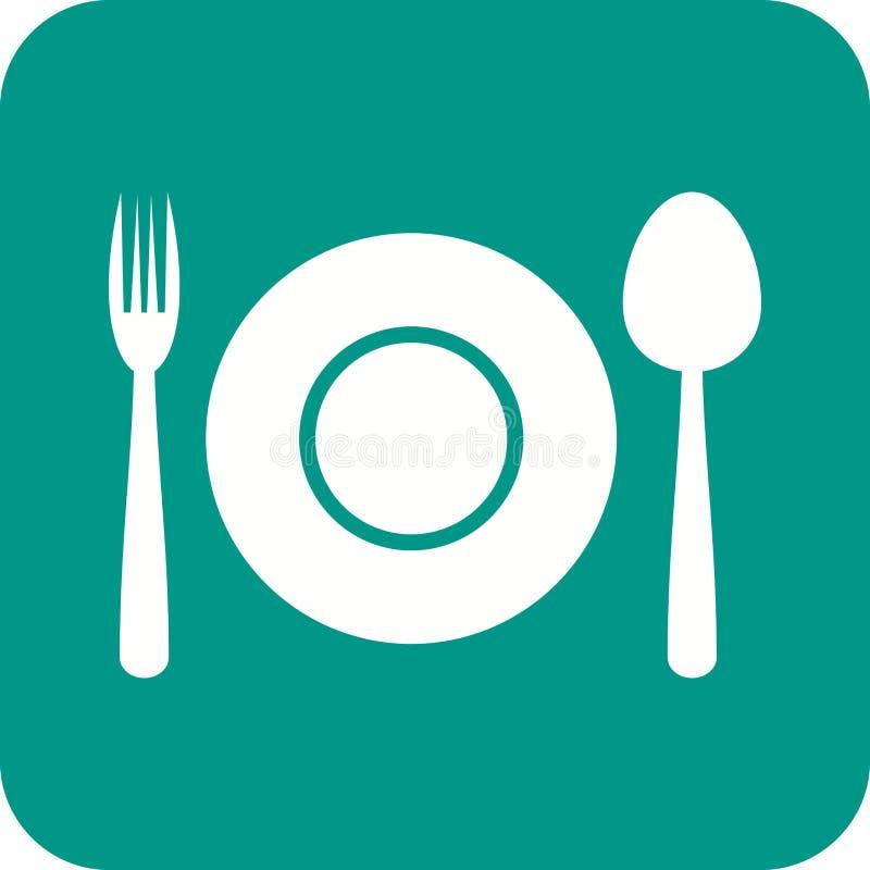 Плита обедающего бесплатная иллюстрация