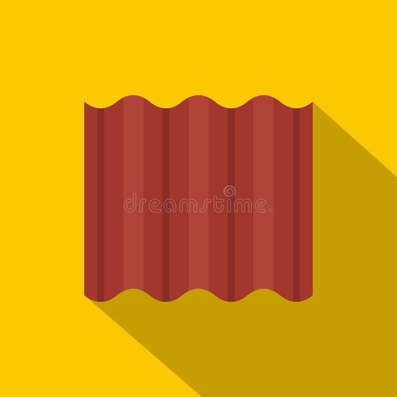 Плита покрашенная сталью goffered для значка крыши иллюстрация вектора