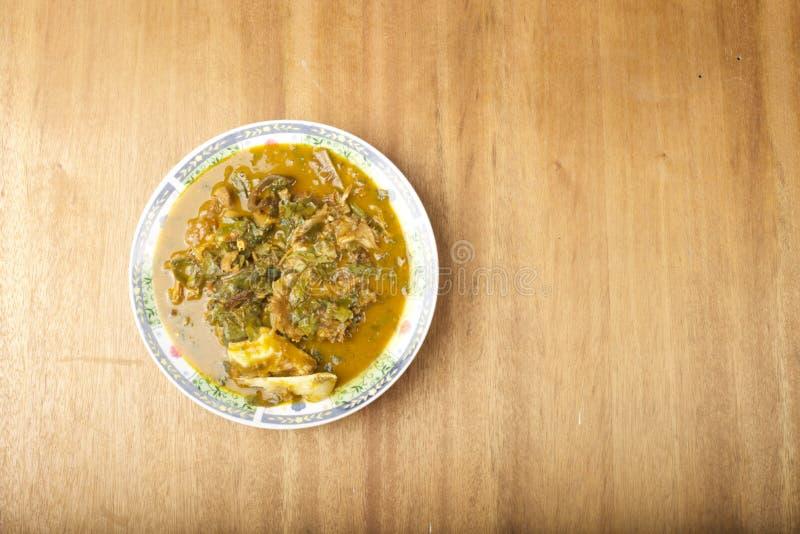 Плита супа Ofe Oha стоковая фотография rf