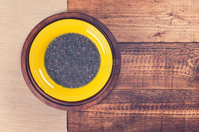 Плита с студнем chia стоковое фото rf