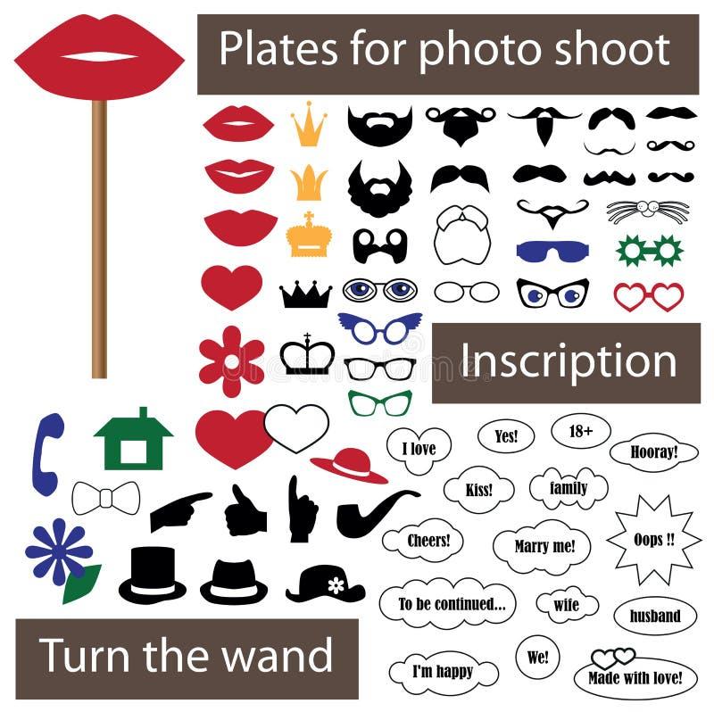 Плита для фотосессии на ручке иллюстрация вектора