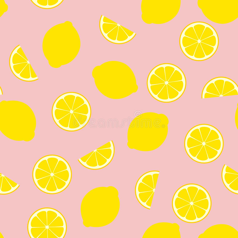 Плитка картины вектора розового лимонада безшовная иллюстрация штока