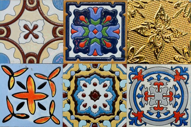 Плитка морокканского стиля Spanich винтажная керамическая стоковое фото rf