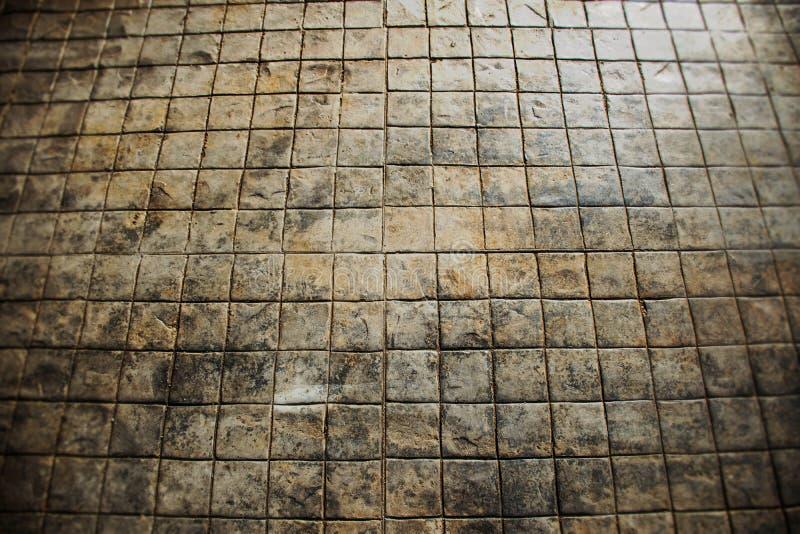 Плитка пола для предпосылки текстуры, ретро тона стоковые изображения rf