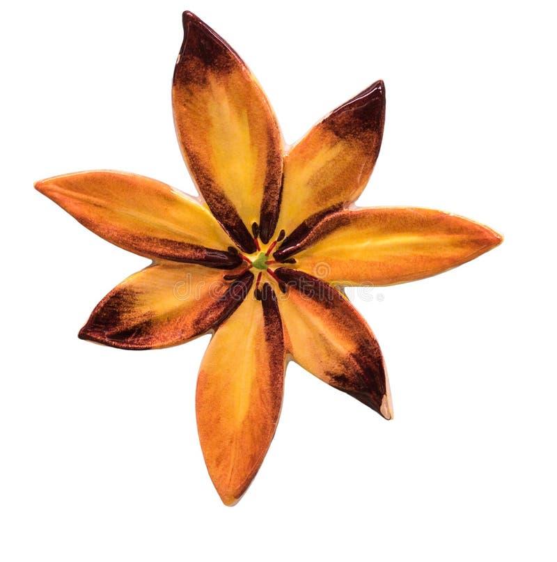 Плитка цветка керамическая стоковые изображения rf