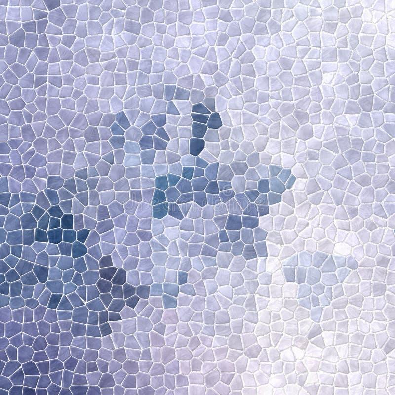плитки мозаики природы мраморные пластичные каменистые текстурируют предпосылку с белым grout - ледистые голубые цвета зимы бесплатная иллюстрация