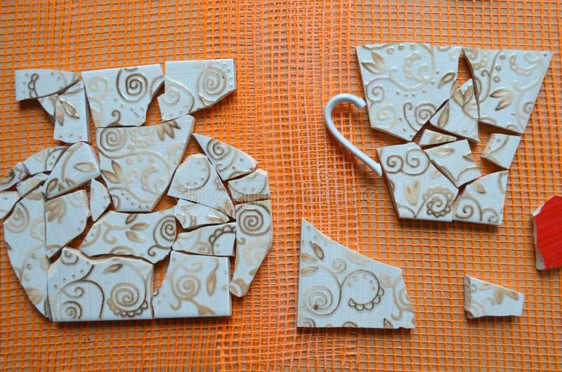 Плитки мозаики с летучей мышью стоковые изображения rf