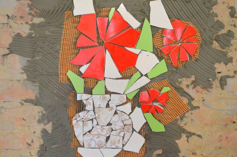 Плитки мозаики с летучей мышью стоковая фотография