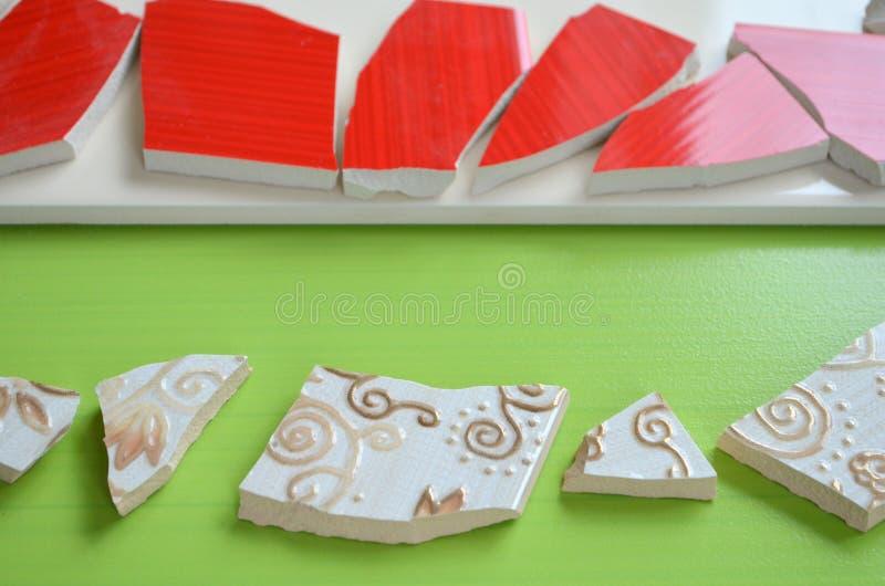 Плитки мозаики с летучей мышью стоковые фото