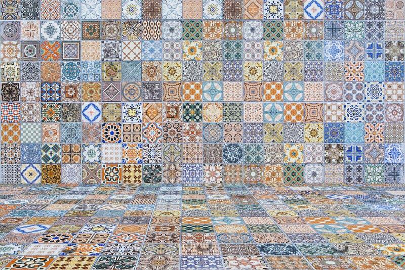 Плитки пола и стены винтажные керамическо иллюстрация штока
